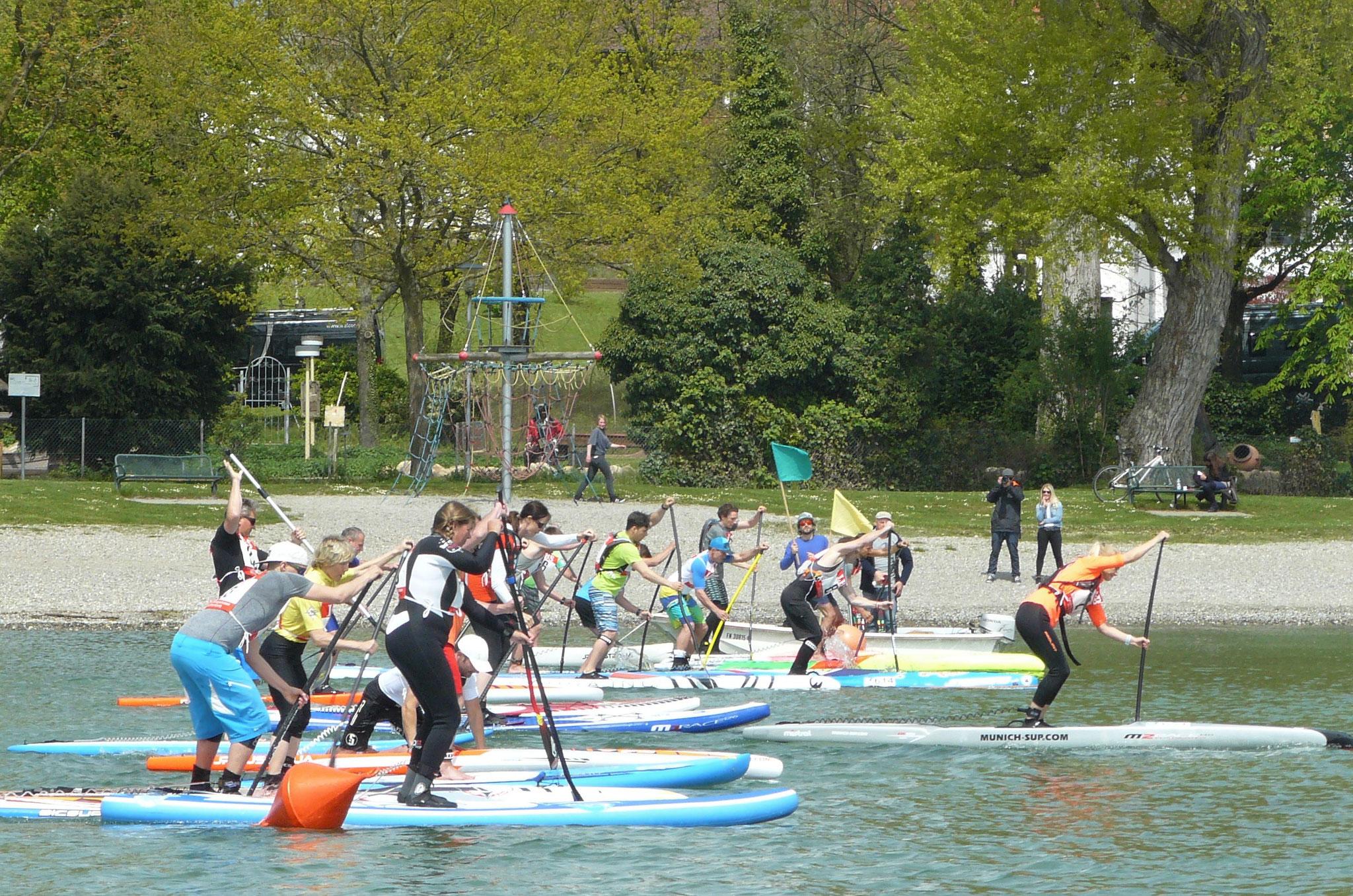 Surfer und SUPer begeistert von 31. Immenstaader Surf-Marathon und 2. Bodensee-SUP-Cup